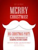 Плакат рождественской вечеринки также вектор иллюстрации притяжки corel Стоковое Изображение