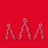 Плакат рождественской елки, предпосылка зимнего отдыха красная, поздравительная открытка модель-макета, элемент дизайна Стоковое Изображение RF