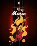 плакат рок-музыки Стоковые Изображения RF