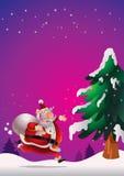 Плакат Санта Клауса Стоковое фото RF