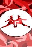Плакат спорта на яркой предпосылке Стоковое фото RF