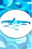 Плакат спорта на яркой предпосылке Стоковое Фото