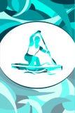Плакат спорта на яркой предпосылке Стоковая Фотография