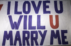 Плакат спрашивая замужество Стоковые Изображения RF