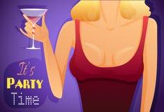 Плакат с горячей девушкой бесплатная иллюстрация