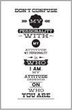 Плакат с мотивационной цитатой Стоковая Фотография