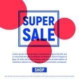 Плакат с продажей рамки с красным кругом Стоковая Фотография RF