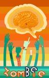 Плакат с руками зомби Стоковое фото RF