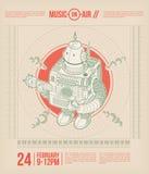 Плакат темы музыки Стоковое Изображение