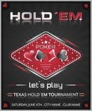 Плакат турнира покера holdem Техаса Стоковые Изображения RF