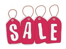 Плакат увеличения продаж Стоковые Фотографии RF