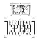 Плакат фестиваля berimbau capoeira Handletterin Стоковые Изображения RF