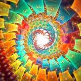плакат фрактали конструкции карточки предпосылки хороший Стоковое Фото