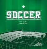Плакат футбола футбола Стоковая Фотография