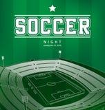 Плакат футбола футбола Стоковые Фотографии RF