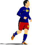 Плакат футболиста Стоковая Фотография RF