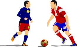Плакат футболиста Стоковые Фотографии RF