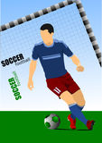 Плакат футболиста Стоковое фото RF