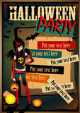 Плакат хеллоуина вектора Стоковая Фотография RF