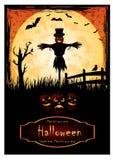 Плакат хеллоуина Стоковые Изображения