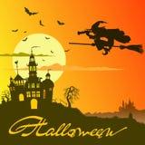 Плакат хеллоуина иллюстрация штока