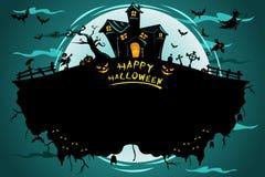 Плакат хеллоуина Стоковое Изображение RF