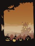 Плакат 03 хеллоуина иллюстрация штока