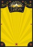 Плакат цирка ретро желтый стоковая фотография rf