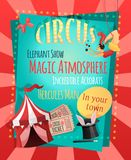 Плакат цирка ретро Стоковое Изображение RF