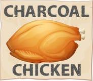 Плакат цыпленка Стоковое Изображение