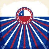 Плакат Чили винтажный патриотический - прочешите дизайн вектора Стоковые Изображения
