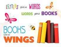 Плакат чтения библиотеки иллюстрация штока