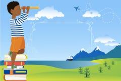 Плакат чтения детей бесплатная иллюстрация