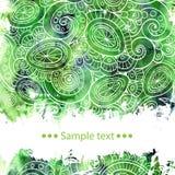 Плакат шаблона вектора с краской акварели и бесплатная иллюстрация