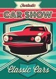 Плакат для выставки автомобилей Стоковые Фотографии RF