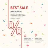 Плакат для продажи в магазине Стоковое Фото