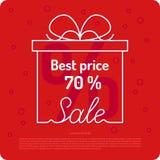 Плакат для продажи в магазине Стоковая Фотография RF