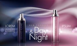 Плакат для продвижения moisturizing и кормить косметический наградной продукт Стоковое Изображение RF