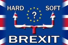 Плакат Brexit мягкий или трудный выхода варианта Стоковое Фото