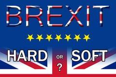 Плакат Brexit трудный или мягкий выхода варианта Стоковое фото RF