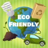 Плакат Eco дружелюбный иллюстрация вектора