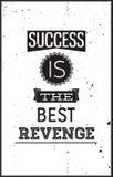 Плакат Grunge мотивационный Успех самый лучший реванш Стоковая Фотография