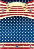 Плакат grunge США Стоковые Фотографии RF