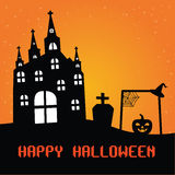 плакат halloween счастливый Стоковые Изображения