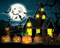 плакат halloween счастливый иллюстрация штока