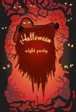плакат halloween счастливый Стоковое Изображение RF