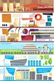 Плакат Infographic избавления отбросов производства плоский иллюстрация штока
