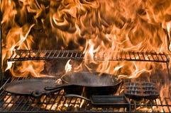 Пламена литого железа Стоковые Изображения