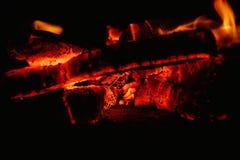 Пламена огня светов в ноче Стоковое Изображение