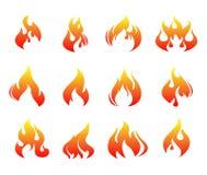Пламена огня  иллюстрация штока